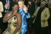 Clinton shows off more dance moves