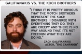 Zach Galifianakis upsets Koch brothers