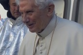 Pope Benedict XVI leaves the Vatican
