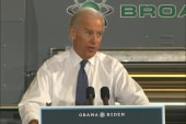 VP Biden takes the campaign stage