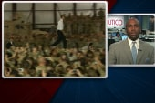 Commander-in-chief greeted warmly by troops