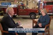 Hillary Clinton plays Hardball