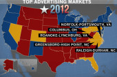 Top ad markets in key states for Romney