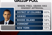 High favorability for Obama in DC, Hawaii