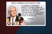 Make up and skin tone: Gingrich's health...