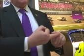 Newt shows off his penguin bite