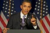 Obama heckled at event
