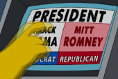 Homer Simpson votes for Romney and it...