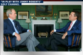 Bush comes to Obama's defense - on golf
