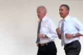 Obama, Biden go for a run