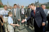 Young Putin sighting in photo with Reagan?