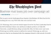 Boehner challenger loses teaching job