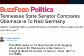 GOPer compares Obamacare to Nazi Germany