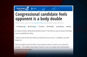GOP candidate says opponent is a body double