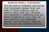 Martin family responds to president's speech