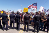 Immigration protests turn ugly