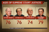 Aging Supreme Court justices raise stakes...