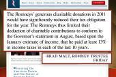 Romney releases his 2011 tax returns
