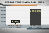 Comparing gun fatalities vs terror fatalities