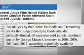 Who is the Judge who ended Walker probe?