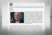 McCain turns to 'Pravda' to respond to Putin