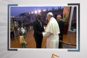 Click 3: Young boy upstages the pope