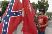 Confederate flag overshadows vets at DC rally