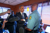 Attorney General Eric Holder in Ferguson