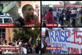 Massive fast food worker protests nationwide
