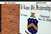 Frat suspended for notebook with racist...