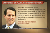 Santorum's 2008 speech attacks mainline...