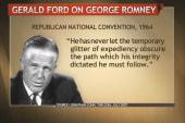 The Romneys: No 'like father, like son'...