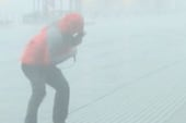 Wind tears through Coney Island