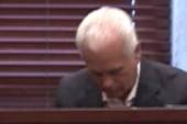 George Anthony tears up on stand