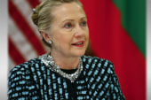 Clinton remains hospitalized with blood clot