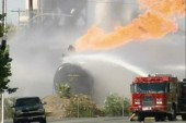 Firefighters scramble to prevent tanker...