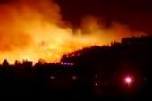 125 square miles around Los Alamos burning