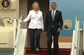 Clinton to Mideast, encouraging signs...