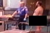 Man protesting TSA screeners strips naked...