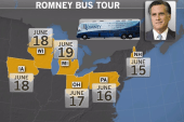 Romney Bus Tour targets small towns