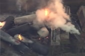 Ill. town evacuated after train derails