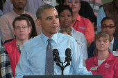 Obama pushes for minimum wage hike on the...