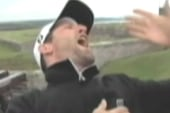 Golfer causes quite an explosion