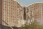University of Alabama's Rose Towers come down
