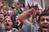Protesters clash with Egyptian police in...