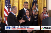 Emilio, Gloria Estefan receive...