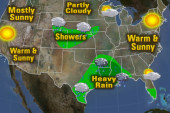 Rain storms expected in South, warm on coasts