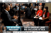 Obama interview excites kid reporter
