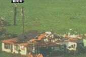 Tornado reportedly kicks up debris in...
