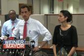 Anthony Weiner and wife Huma Abedin...